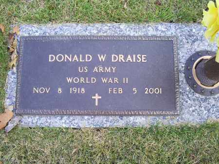 DRAISE, DONALD W. - Ross County, Ohio | DONALD W. DRAISE - Ohio Gravestone Photos
