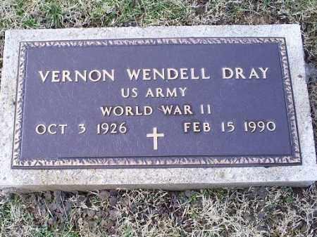 DRAY, VERNON WENDELL - Ross County, Ohio | VERNON WENDELL DRAY - Ohio Gravestone Photos