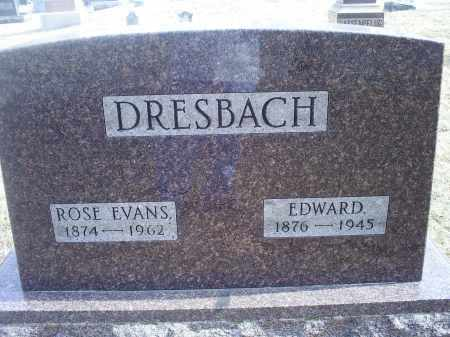 DRESBACH, EDWARD - Ross County, Ohio | EDWARD DRESBACH - Ohio Gravestone Photos