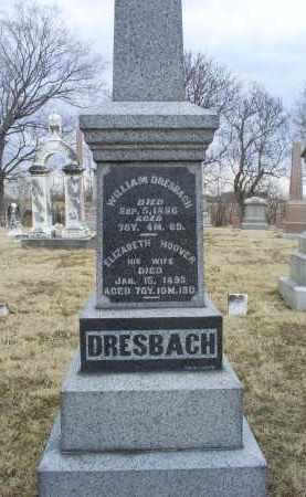 HOOVER DRESBACH, ELIZABETH - Ross County, Ohio | ELIZABETH HOOVER DRESBACH - Ohio Gravestone Photos