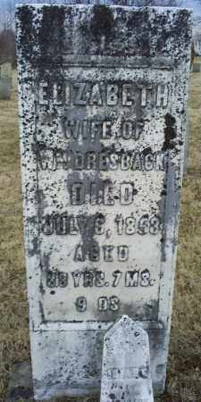 DRESBACK, ELIZABETH - Ross County, Ohio | ELIZABETH DRESBACK - Ohio Gravestone Photos