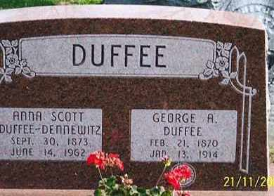 DUFFEE, GEORGE A. - Ross County, Ohio | GEORGE A. DUFFEE - Ohio Gravestone Photos