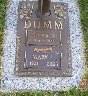 DUMM, MARY L. - Ross County, Ohio | MARY L. DUMM - Ohio Gravestone Photos