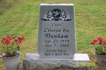 "DUNHAM, CLINTON IRA  ""CLINT"" - Ross County, Ohio | CLINTON IRA  ""CLINT"" DUNHAM - Ohio Gravestone Photos"