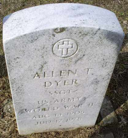 DYER, ALLEN T. - Ross County, Ohio | ALLEN T. DYER - Ohio Gravestone Photos