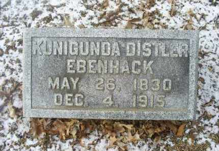 EBENHACK, KUNIGUNDA DISTLER - Ross County, Ohio | KUNIGUNDA DISTLER EBENHACK - Ohio Gravestone Photos