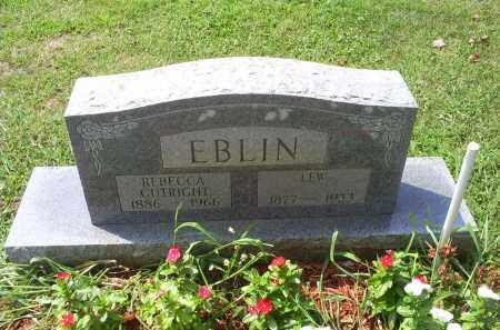 CUTRIGHT EBLIN, REBECCA - Ross County, Ohio | REBECCA CUTRIGHT EBLIN - Ohio Gravestone Photos