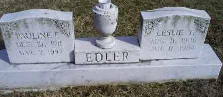EDLER, LESLIE T. - Ross County, Ohio | LESLIE T. EDLER - Ohio Gravestone Photos