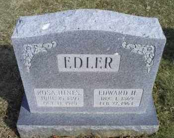 EDLER, EDWARD H. - Ross County, Ohio | EDWARD H. EDLER - Ohio Gravestone Photos