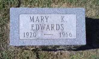 EDWARDS, MARY K. - Ross County, Ohio | MARY K. EDWARDS - Ohio Gravestone Photos