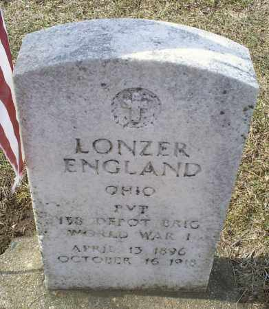ENGLAND, LONZER - Ross County, Ohio | LONZER ENGLAND - Ohio Gravestone Photos