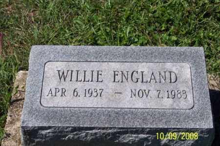 ENGLAND, WILLIE - Ross County, Ohio | WILLIE ENGLAND - Ohio Gravestone Photos