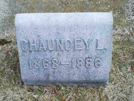 EVANS, CHAUNCEY L. - Ross County, Ohio | CHAUNCEY L. EVANS - Ohio Gravestone Photos
