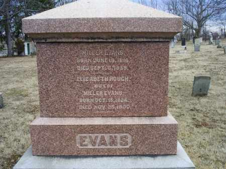 HOUGH EVANS, ELIZABETH - Ross County, Ohio | ELIZABETH HOUGH EVANS - Ohio Gravestone Photos