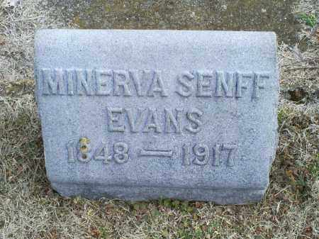 EVANS, MINERVA - Ross County, Ohio | MINERVA EVANS - Ohio Gravestone Photos