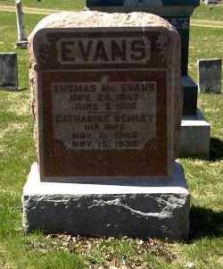 EVANS, THOMAS MC. - Ross County, Ohio | THOMAS MC. EVANS - Ohio Gravestone Photos