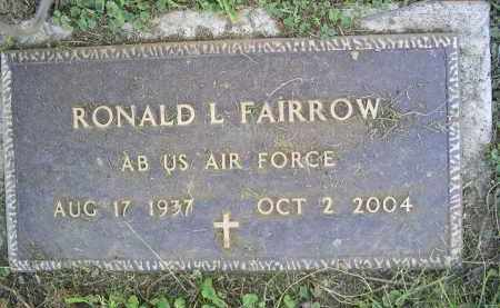 FAIRROW, RONALD L. - Ross County, Ohio | RONALD L. FAIRROW - Ohio Gravestone Photos