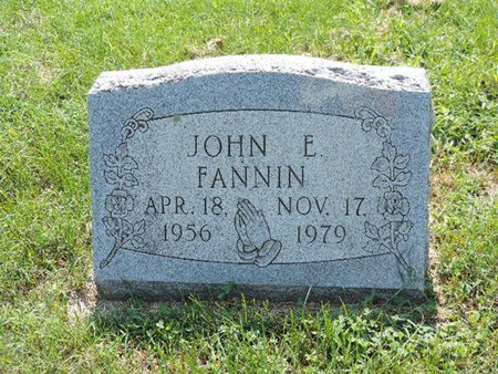 FANNIN, JOHN E. - Ross County, Ohio | JOHN E. FANNIN - Ohio Gravestone Photos