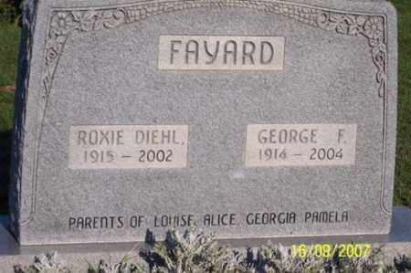 DIEHL FAYARD, ROXIE - Ross County, Ohio | ROXIE DIEHL FAYARD - Ohio Gravestone Photos