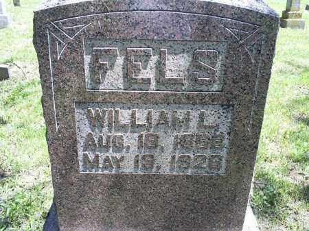 FELS, WILLIAM L. - Ross County, Ohio | WILLIAM L. FELS - Ohio Gravestone Photos