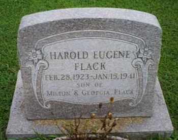 FLACK, HAROLD EUGENE - Ross County, Ohio | HAROLD EUGENE FLACK - Ohio Gravestone Photos