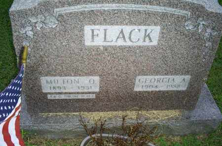 FLACK, GEORGIA A. - Ross County, Ohio | GEORGIA A. FLACK - Ohio Gravestone Photos