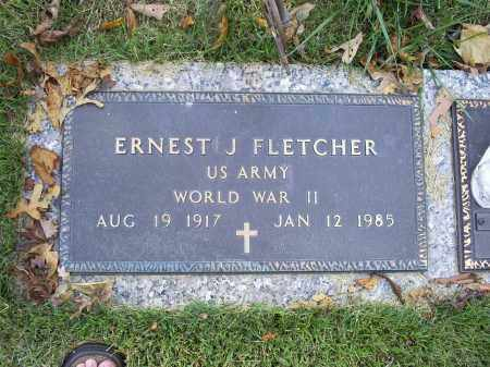 FLETCHER, ERNEST J. - Ross County, Ohio | ERNEST J. FLETCHER - Ohio Gravestone Photos