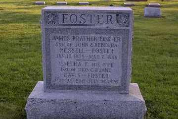FOSTER, JAMES PRATHER - Ross County, Ohio | JAMES PRATHER FOSTER - Ohio Gravestone Photos