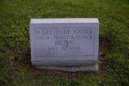 FOSTER, M. GERTRUDE - Ross County, Ohio | M. GERTRUDE FOSTER - Ohio Gravestone Photos