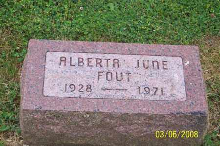 FOUT, ALBERTA JUNE - Ross County, Ohio | ALBERTA JUNE FOUT - Ohio Gravestone Photos