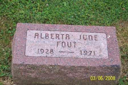 FOUT, ALBERTA JUNE - Ross County, Ohio   ALBERTA JUNE FOUT - Ohio Gravestone Photos