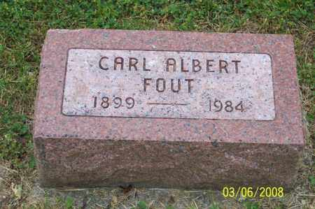 FOUT, CARL ALBERT - Ross County, Ohio | CARL ALBERT FOUT - Ohio Gravestone Photos