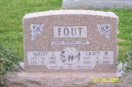FOUT, OAKLEY J. - Ross County, Ohio | OAKLEY J. FOUT - Ohio Gravestone Photos