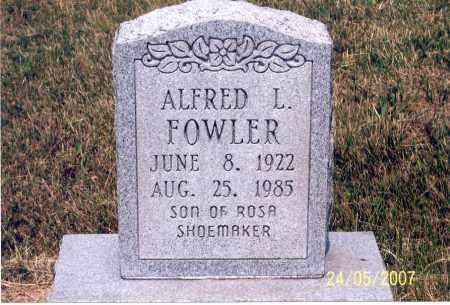 FOWLER, ALFRED L. - Ross County, Ohio | ALFRED L. FOWLER - Ohio Gravestone Photos