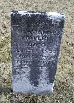 FOWLER, BENJAMIN - Ross County, Ohio | BENJAMIN FOWLER - Ohio Gravestone Photos