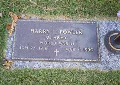 FOWLER, HARRY L. - Ross County, Ohio | HARRY L. FOWLER - Ohio Gravestone Photos