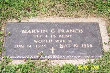 FRANCIS, MARVIN G. - Ross County, Ohio | MARVIN G. FRANCIS - Ohio Gravestone Photos