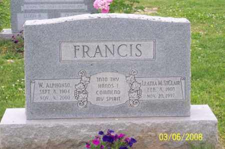 FRANCIS, W. ALPHONSO - Ross County, Ohio | W. ALPHONSO FRANCIS - Ohio Gravestone Photos