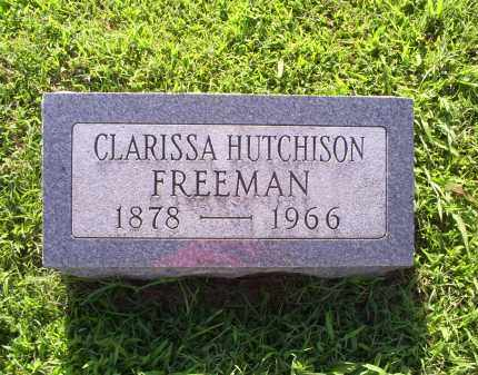 HUTCHISON FREEMAN, CLARISSA - Ross County, Ohio | CLARISSA HUTCHISON FREEMAN - Ohio Gravestone Photos