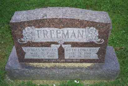 EDWARDS FREEMAN, RUTH - Ross County, Ohio | RUTH EDWARDS FREEMAN - Ohio Gravestone Photos