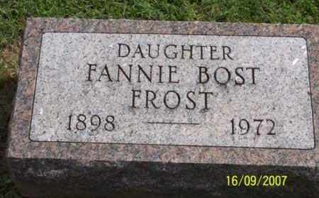 BOST FROST, FANNIE - Ross County, Ohio | FANNIE BOST FROST - Ohio Gravestone Photos