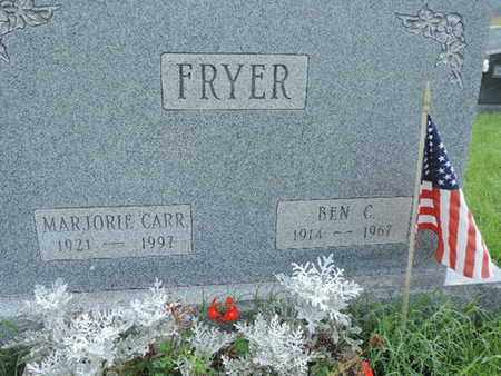 FRYER, BEN C. - Ross County, Ohio | BEN C. FRYER - Ohio Gravestone Photos