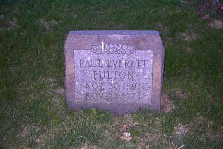 FULTON, PAUL EVERETT - Ross County, Ohio | PAUL EVERETT FULTON - Ohio Gravestone Photos