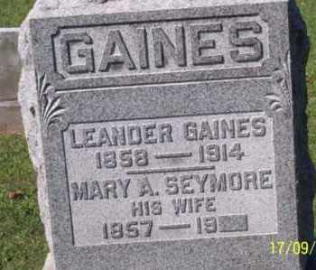 SEYMOUR GAINES, MARY A. - Ross County, Ohio | MARY A. SEYMOUR GAINES - Ohio Gravestone Photos