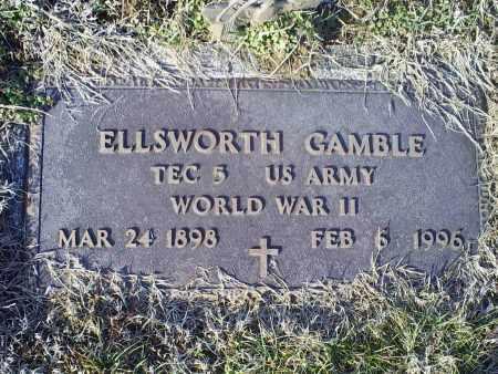 GAMBLE, ELLSWORTH - Ross County, Ohio | ELLSWORTH GAMBLE - Ohio Gravestone Photos