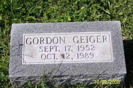 GEIGER, GORDON - Ross County, Ohio   GORDON GEIGER - Ohio Gravestone Photos