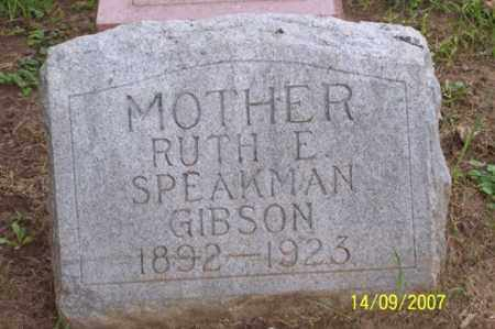 SPEAKMAN GIBSON, RUTH E. - Ross County, Ohio | RUTH E. SPEAKMAN GIBSON - Ohio Gravestone Photos