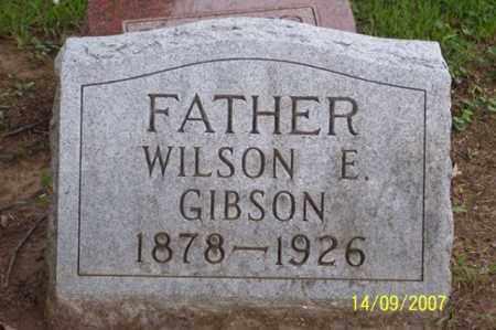 GIBSON, WILSON E. - Ross County, Ohio | WILSON E. GIBSON - Ohio Gravestone Photos