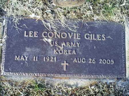 GILES, LEE CONOVIE - Ross County, Ohio | LEE CONOVIE GILES - Ohio Gravestone Photos