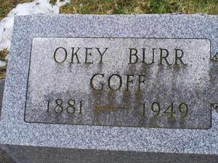 GOFF, OKEY BURR - Ross County, Ohio | OKEY BURR GOFF - Ohio Gravestone Photos